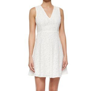 Theory Mariam Portray White Floral-Lace Dress - 6